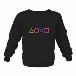 Дитячий реглан (світшот) Кнопки PlayStation