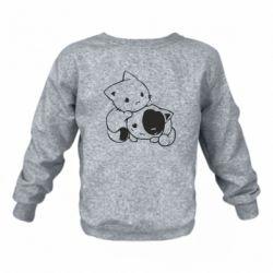Детский реглан котята - FatLine
