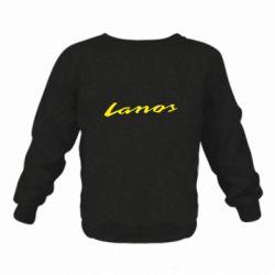 Детский реглан (свитшот) на флисе Lanos Logo