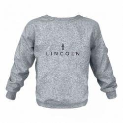Детский реглан (свитшот) Lincoln logo