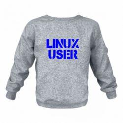 Дитячий реглан (світшот) Linux User