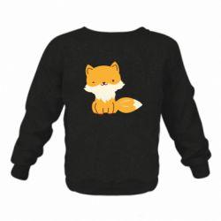 Детский реглан (свитшот) Little red fox