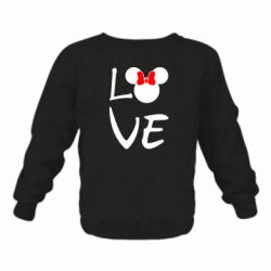 Детский реглан Love Mickey Mouse (female) - FatLine