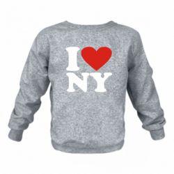 Дитячий реглан (світшот) Люблю Нью Йорк
