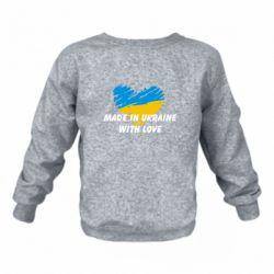 Детский реглан (свитшот) Made in Ukraine with Love