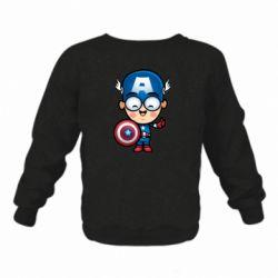 Детский реглан (свитшот) Маленький Капитан Америка