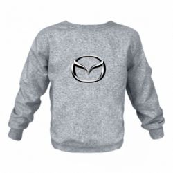 Детский реглан (свитшот) Mazda 3D Logo