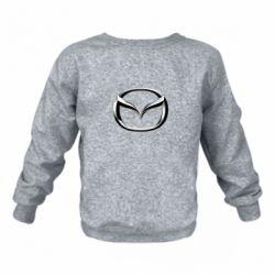 Детский реглан (свитшот) Mazda 3D Small Logo