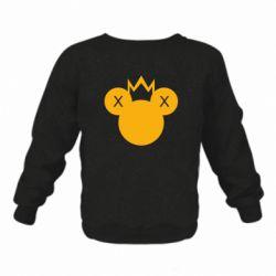 Дитячий реглан (світшот) Mickey with a crown