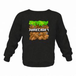 Дитячий реглан (світшот) Minecraft Main Logo