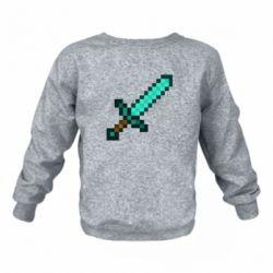 Дитячий реглан (світшот) Minecraft меч