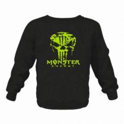Детский реглан (свитшот) Monster Energy Череп