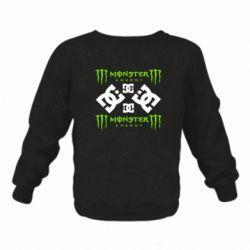 Дитячий реглан (світшот) Monster Energy DC Logo