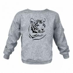 Детский реглан (свитшот) Морда тигра