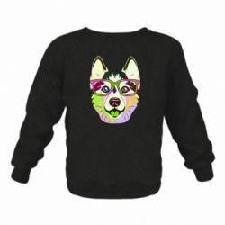 Дитячий реглан (світшот) Multi-colored dog with glasses