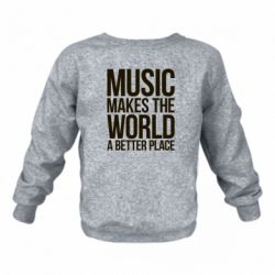 Детский реглан Music makes the world a better place - FatLine