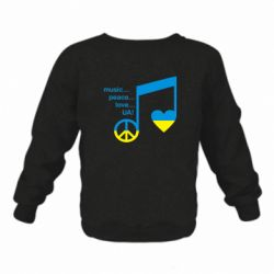 Детский реглан Music, peace, love UA - FatLine