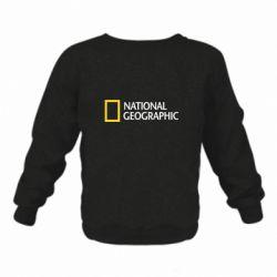 Детский реглан (свитшот) National Geographic logo
