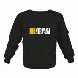 Детский реглан (свитшот) на флисе Nirvana смайл