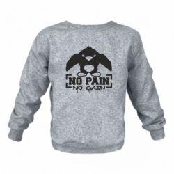 Детский реглан (свитшот) No pain no gain пингвин