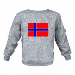 Дитячий реглан (світшот) Норвегія