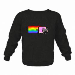 Дитячий реглан (світшот) Nyan cat