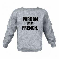 Детский реглан Pardon my french. - FatLine