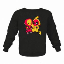 Детский реглан (свитшот) Pikachu and deadpool