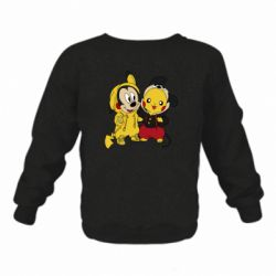 Детский реглан (свитшот) Пикачу и Микки Маус