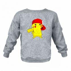 Детский реглан (свитшот) Pikachu in a cap