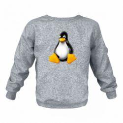 Дитячий реглан (світшот) Пингвин Linux