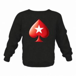 Дитячий реглан (світшот) Poker Stars 3D Logo