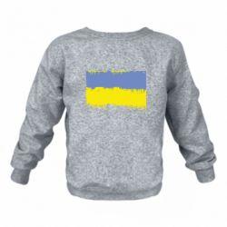 Дитячий реглан (світшот) Потертий прапор України