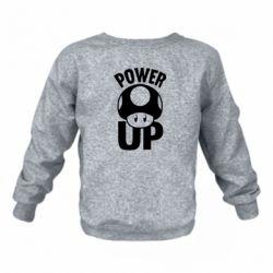 Дитячий реглан (світшот) Power Up Маріо гриб