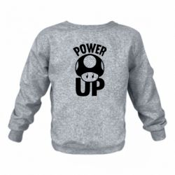 Детский реглан (свитшот) Power Up гриб Марио
