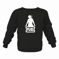 Детский реглан (свитшот) PUBG logo and hero