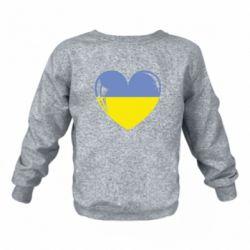 Дитячий реглан (світшот) Серце України
