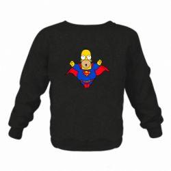 Детский реглан (свитшот) Simpson superman