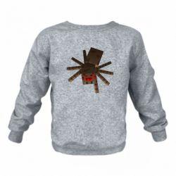 Детский реглан (свитшот) Spider from Minecraft