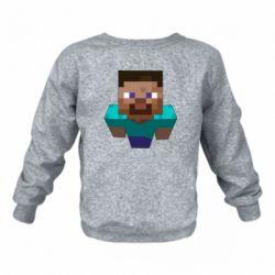 Детский реглан (свитшот) Steve from Minecraft