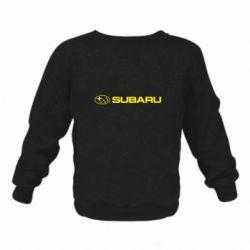 Детский реглан (свитшот) Subaru logo