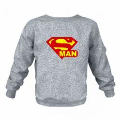 Детский реглан (свитшот) на флисе Super Man