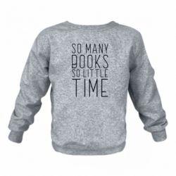 Дитячий реглан (світшот) Так багато книг так мало часу