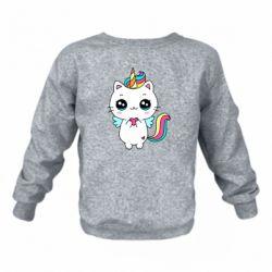 Дитячий реглан (світшот) The cat is unicorn