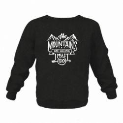 Дитячий реглан (світшот) The mountains are calling must go