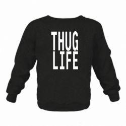 Детский реглан (свитшот) thug life