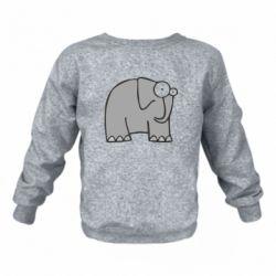 Детский реглан (свитшот) удивленный слон
