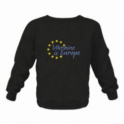 Дитячий реглан (світшот) Ukraine in Europe