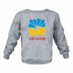 Детский реглан (свитшот) Ukraine квадратний прапор