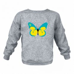 Дитячий реглан (світшот) Український метелик